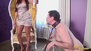 Extreme Humiliation Of Cuckold Slave By Goddess And Her Boyfriend