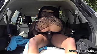 Hotwife gets fucked outdoors by a BBC