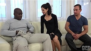 Cuckold Training Wife fucks black man in front of husband and pussy licked