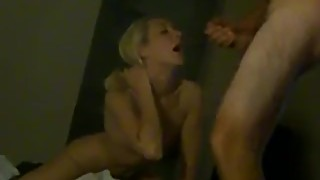 Slim Blonde Really Enjoys Fucking as Hubby Films