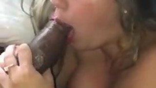 blond wife suking big cock bbc
