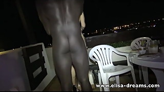 Cheating wife gets fucked by a BBC in public