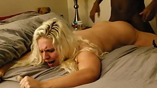 Blonde milf getting pounded.