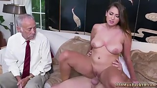 Hope harper daddy and old man sucking tits