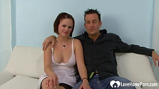 Seductive babe gets a big black cock