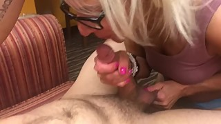 Hotwife Sucks 20 YO Biracial Cock. Amateur Cuckold. Husband Films.